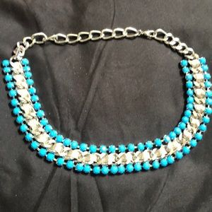 Cute turquoise and silver costume jewelry